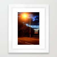 Manmade and nature. Framed Art Print