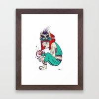 Voodoo magic Framed Art Print