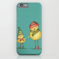 Two Chicks - teal iPhone 6 Slim Case