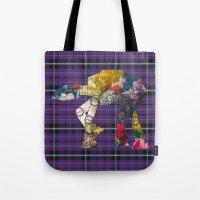 Plaid And Floral ATAT Tote Bag