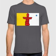 Flag Of Nunavut - High Q… Mens Fitted Tee Asphalt SMALL
