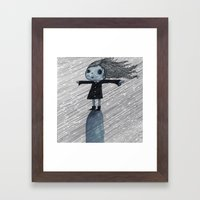 Even When It Is Raining I go up on my Hill Framed Art Print