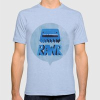Rawr Returns! Mens Fitted Tee Athletic Blue SMALL