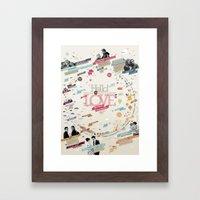LOVE 365 Calendar Framed Art Print