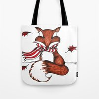 Holiday Fox Tote Bag