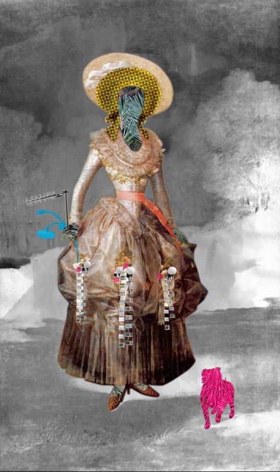 Goya -  Marquesa de Pontejos - Collage Canvas Print