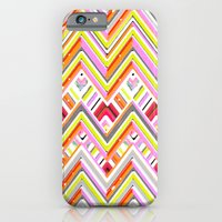 iPhone & iPod Case featuring Citrus Chevron by Joan McLemore