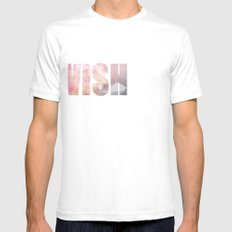 Wish White Mens Fitted Tee SMALL