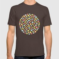 What the flock? Mens Fitted Tee Brown SMALL