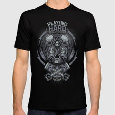 PLAYNG HARD Mens Fitted Tee Black SMALL
