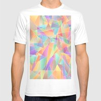The Geometric Glass Shatter Mens Fitted Tee White SMALL