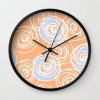 Rose Bud Wall Clock