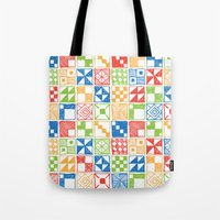 Abstract Squares Primary Tote Bag