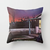 Pink House VACANCY Zine Throw Pillow
