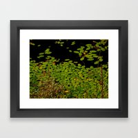 Sprinkles Of Green Framed Art Print
