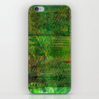 Gold caged green iPhone & iPod Skin