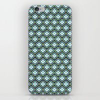 Navy Graphic Flower iPhone & iPod Skin