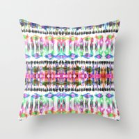 Ikat #8C Throw Pillow