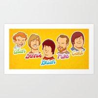Alan & Dennis & Brian & … Art Print