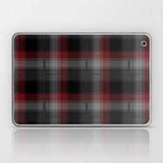 Black, Red, Lumberjack Plaid Laptop & iPad Skin