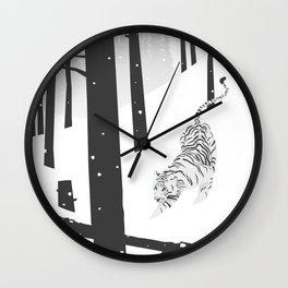 Wall Clock - White tiger - Roland Banrevi