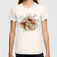 Honey & Sorrow Womens Fitted Tee Natural SMALL