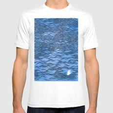 Man & Nature - The Dangerous Sea Mens Fitted Tee SMALL White