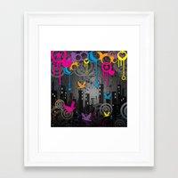 Vector City Grunge. Framed Art Print