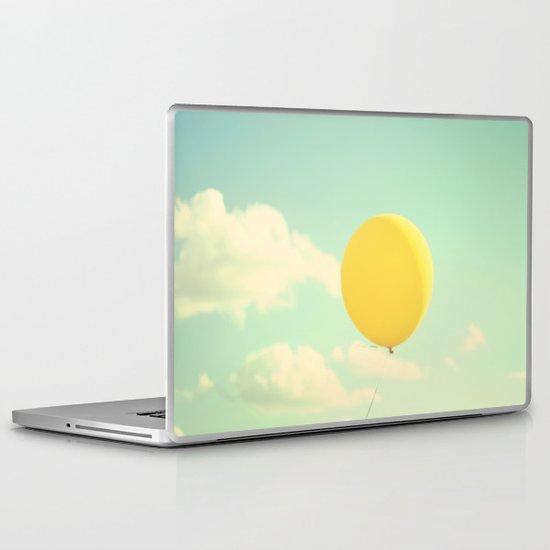 yellow balloon Laptop & iPad Skin