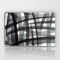 Grey Crossed Stripes Laptop & iPad Skin