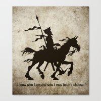Don Quixote - Digital Work Canvas Print