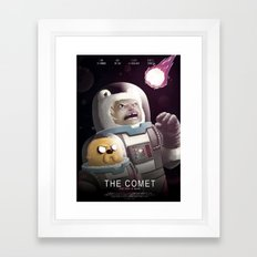 The Comet - Time for adventure in space Framed Art Print