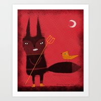 DEVIL FOX Art Print
