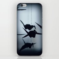 Origami crane iPhone & iPod Skin