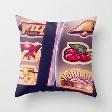 Slot Machine Throw Pillow