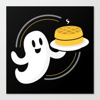 Ghost Waffles (Podcast) Canvas Print