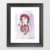 --->Strawberry_POP_Love! Framed Art Print