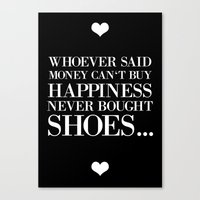 happiness black Canvas Print