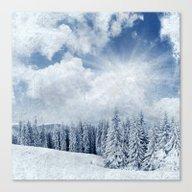 Pretty Winter Scenery La… Canvas Print