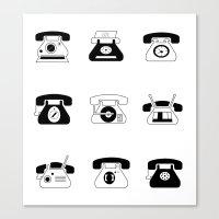Fifties' Smartphones Canvas Print