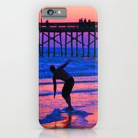 iPhone & iPod Case featuring Neon Skimboarder by Barbara Gordon Photography