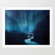 Alone In A Ghost Town Art Print