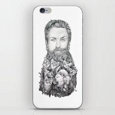 Kitten Beard iPhone & iPod Skin