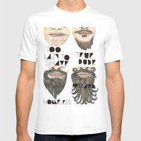 The Beard Chart Of Dudel… Mens Fitted Tee White SMALL