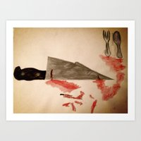 The Fork Ran Away With T… Art Print
