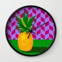 Fruit with Wallpaper (pineapple) Wall Clock