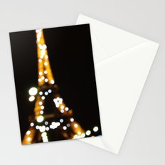 The lights of the eiffel tower Stationery Cards