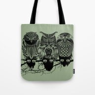 Tote Bag featuring Owls Of The Nile by Rachel Caldwell