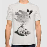 In Harmony Mens Fitted Tee Silver SMALL