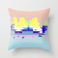 Summer City Throw Pillow